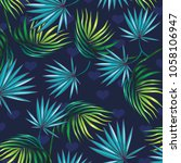 tropical floral pattern design  ... | Shutterstock .eps vector #1058106947
