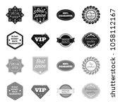 money back guarantee  vip ... | Shutterstock .eps vector #1058112167