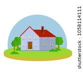 cartoon flat illustration  ... | Shutterstock .eps vector #1058114111