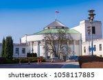 house of parliament  sejm ... | Shutterstock . vector #1058117885