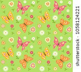 seamless pattern with... | Shutterstock .eps vector #1058124221