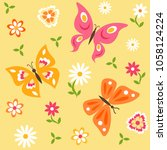 seamless pattern with... | Shutterstock .eps vector #1058124224