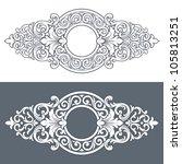 vintage border frame engraving... | Shutterstock . vector #105813251