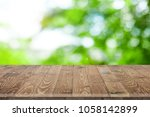 wooden worktop surface with old ... | Shutterstock . vector #1058142899
