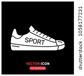filled sneakers vector icon...