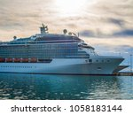 the cruise ship in sea | Shutterstock . vector #1058183144