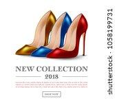 womens high heel shoes ... | Shutterstock .eps vector #1058199731