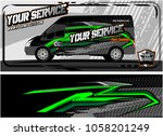 abstract van graphic kit for... | Shutterstock .eps vector #1058201249