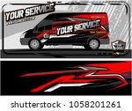 abstract van graphic kit for... | Shutterstock .eps vector #1058201261