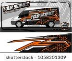 abstract van graphic kit for... | Shutterstock .eps vector #1058201309
