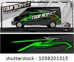 abstract van graphic kit for... | Shutterstock .eps vector #1058201315