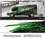 abstract van graphic kit for... | Shutterstock .eps vector #1058201321