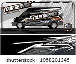 abstract van graphic kit for... | Shutterstock .eps vector #1058201345