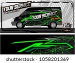 abstract van graphic kit for... | Shutterstock .eps vector #1058201369