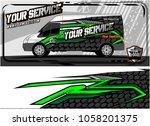 abstract van graphic kit for... | Shutterstock .eps vector #1058201375