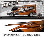 abstract van graphic kit for... | Shutterstock .eps vector #1058201381