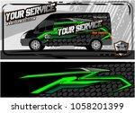 abstract van graphic kit for... | Shutterstock .eps vector #1058201399
