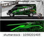 abstract van graphic kit for... | Shutterstock .eps vector #1058201405