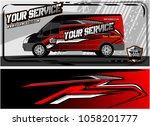 van graphic kit. modern vehicle ...   Shutterstock .eps vector #1058201777