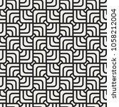 geometric vector seamless... | Shutterstock .eps vector #1058212004