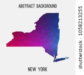 new york map in geometric... | Shutterstock .eps vector #1058213255