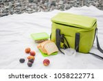 A Picnic Bag  Bread And Fruit...