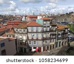 old houses in the old town.... | Shutterstock . vector #1058234699