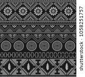 seamless native pattern... | Shutterstock .eps vector #1058251757