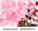 flowers.  spring mood.... | Shutterstock . vector #1058254271