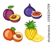 cartoon illustration of tasty...   Shutterstock .eps vector #1058254709