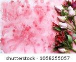 flowers. spring mood. beautiful ... | Shutterstock . vector #1058255057