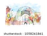 sultan qaboos grand mosque in...   Shutterstock .eps vector #1058261861