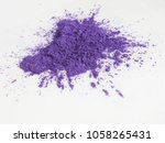violet mica powder pigments for ... | Shutterstock . vector #1058265431