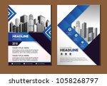 vector flyer  corporate...   Shutterstock .eps vector #1058268797