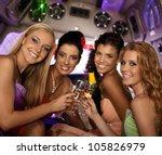 happy women celebrating in...