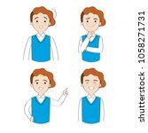cartoon cute actions man... | Shutterstock .eps vector #1058271731