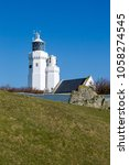 st catherine's lighthouse on... | Shutterstock . vector #1058274545
