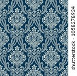 vector classic damask seamless... | Shutterstock .eps vector #1058278934