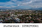 aerial view of escazu  costa... | Shutterstock . vector #1058293061