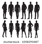 business men and women in... | Shutterstock .eps vector #1058293487