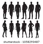 business men and women in... | Shutterstock .eps vector #1058293487