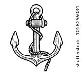 anchor illustration isolated on ... | Shutterstock . vector #1058296034
