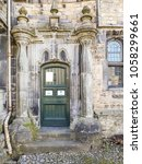 Small photo of SETTLE, UK - MARCH 29 2018: Door to Folly House. Settle is a small market town and civil parish in the Craven district of North Yorkshire, England