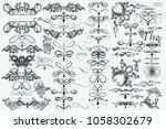 big collection of vector... | Shutterstock .eps vector #1058302679