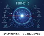 futuristic infographic robotic... | Shutterstock .eps vector #1058303981