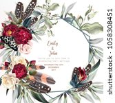 beautiful wedding invitation... | Shutterstock .eps vector #1058308451