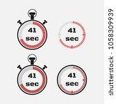 timer 41 seconds on gray... | Shutterstock .eps vector #1058309939