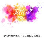 watercolor imitation background ... | Shutterstock .eps vector #1058324261