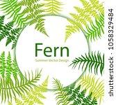 fern frond tropical leaves... | Shutterstock .eps vector #1058329484