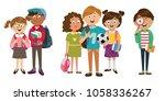 children's characters of people.... | Shutterstock .eps vector #1058336267
